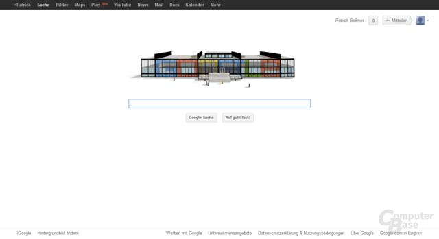 Neue Google-Leiste mit Link zu Google Play