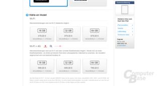 Das neue iPad im deutschen Apple Store
