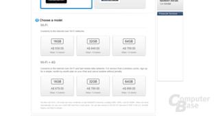 Das neue iPad im australischen Apple Store