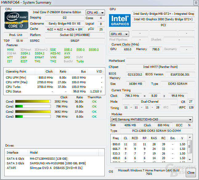 Intel i7-2960XM