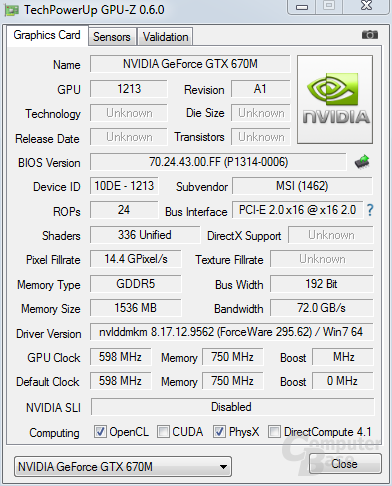 Nvidia GeForce GTX 670M