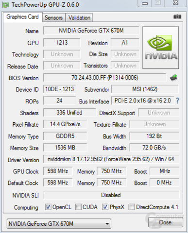 Nvidia GeForce GTX 670M