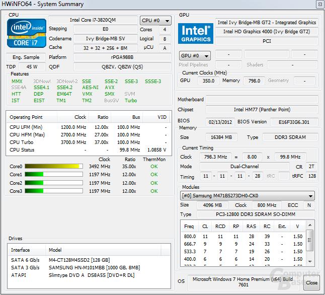 Intel i7-3820QM
