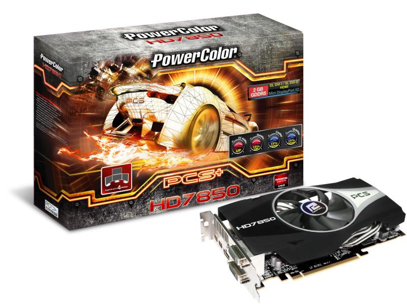 PowerColor PCS+ HD 7850 mit 1 GHz GPU-Takt