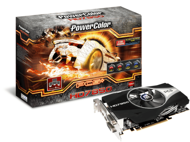 PowerColor PCS+ HD 7850 mit 1 GHz GPU-Takt