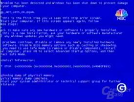 GeForce FX Bluescreen