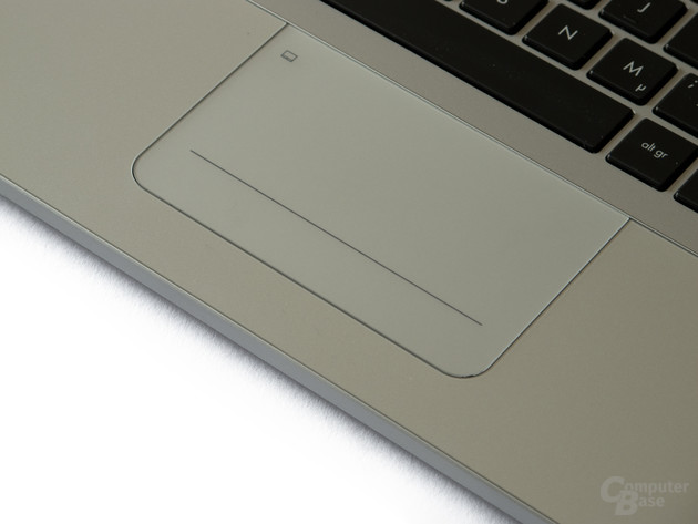 Sehr glattes Touchpad