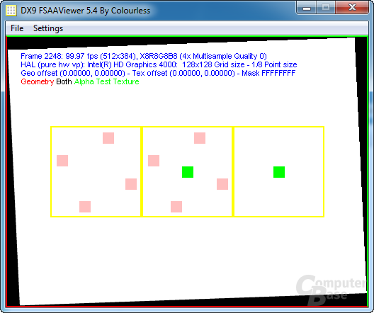 Intel Ivy-Bridge - FSAA-Viewer 4xAA