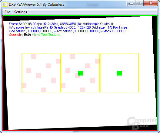 Intel Ivy-Bridge - FSAA-Viewer 8xAA