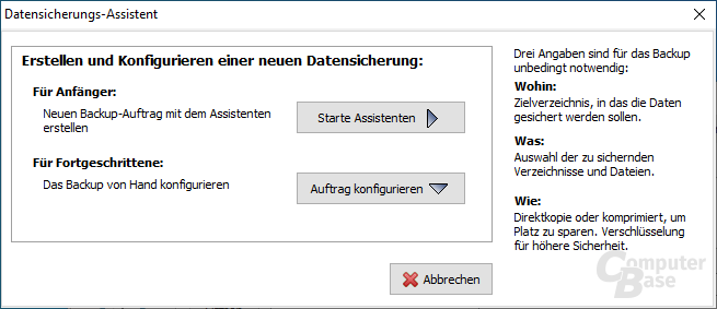 Personal Backup - Datensicherungs-Assistent