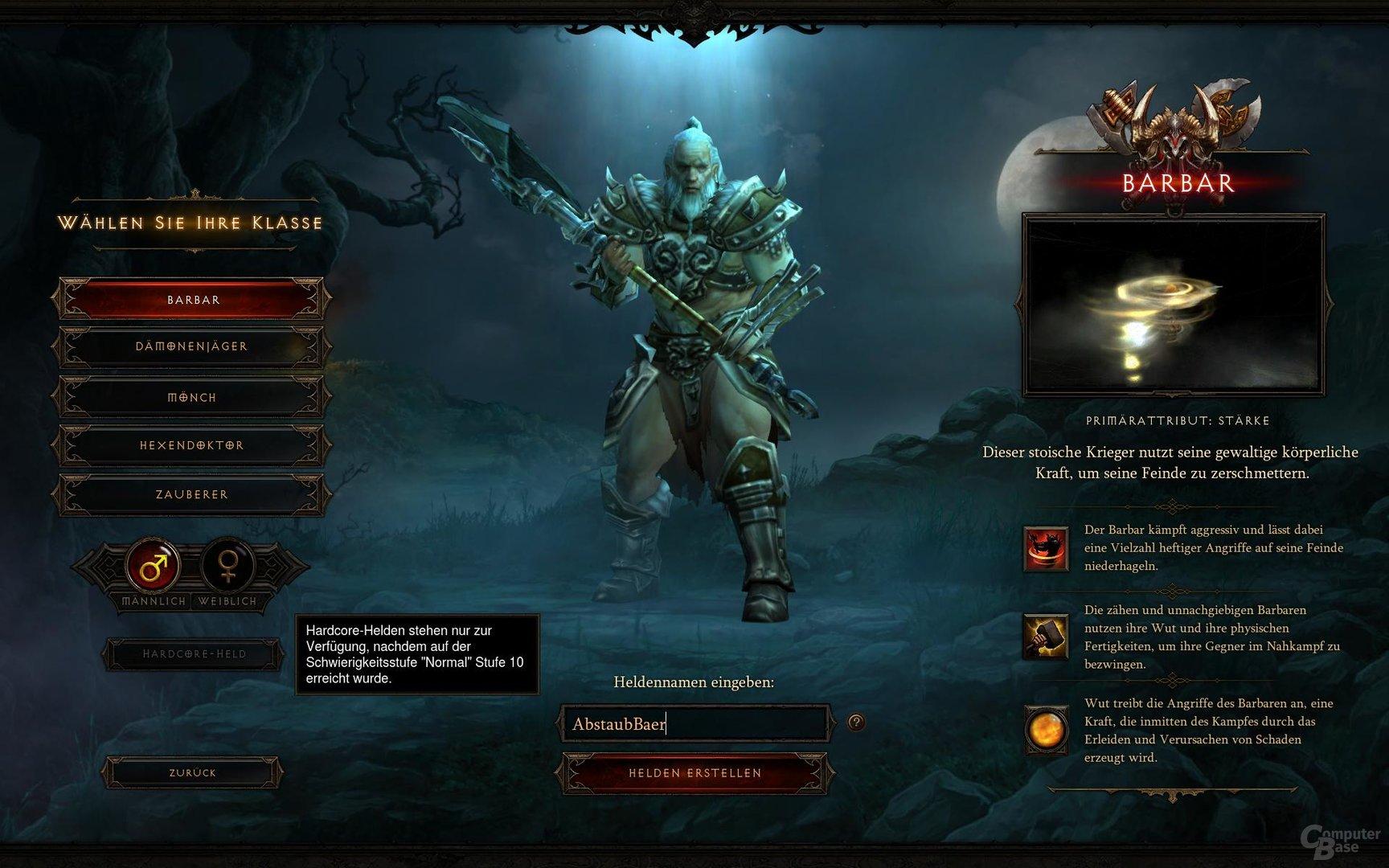 Diablo III – Charaktererstellung