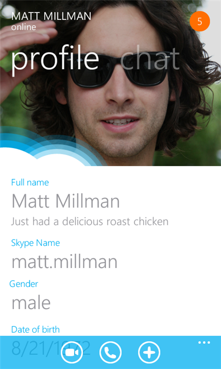 Skype für Windows Phone 7