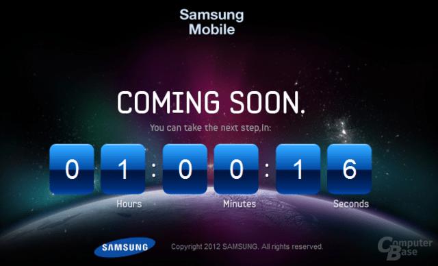 Galaxy Teaser-Webseite