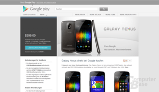 Galaxy Nexus im Google-Play-Shop