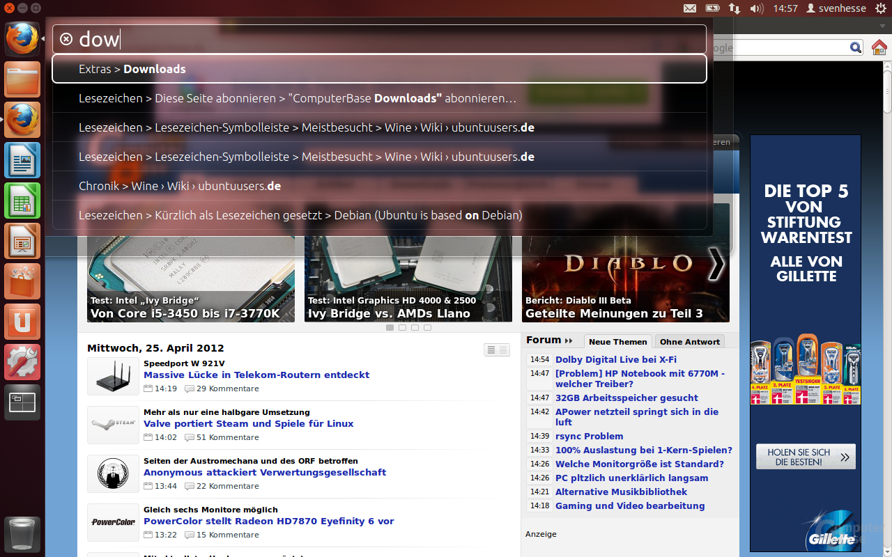 Ubuntu 12.04 – HUD in Firefox