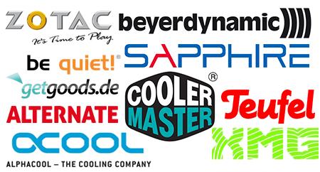 Logos der Gewinnspiel-Partner