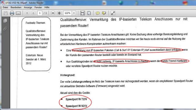 Internes Telekom-Schreiben