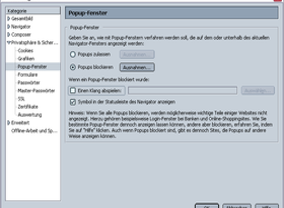 Netscape 7.01 Einstellungen