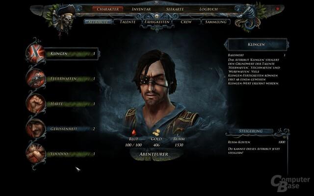 Charaktersystem in Risen 2