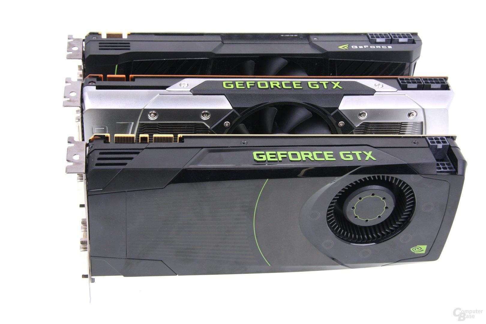 GTX 590, GTX 690 und GTX 680