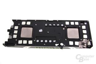 GeForce GTX 690 Kühlerrückseite