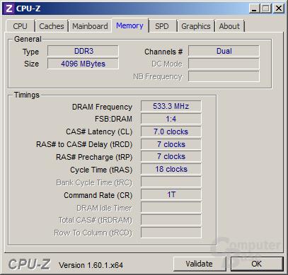 4 GByte DDR3-1066