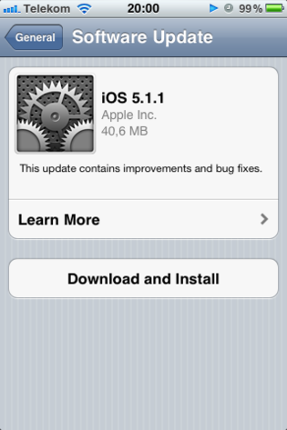 Update iOS 5.1.1