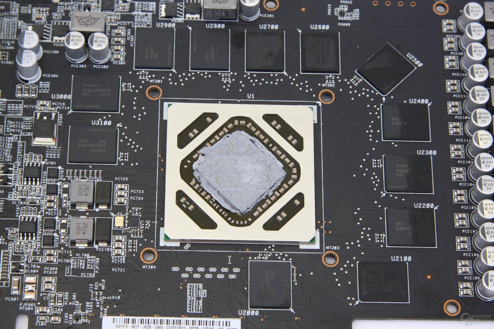 Radeon HD 7970 DCII GPU und Speicher