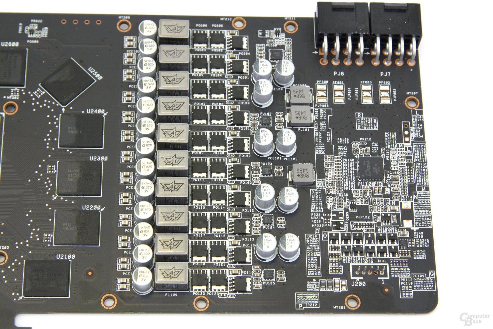 Radeon HD 7970 DCII Stromversorgung