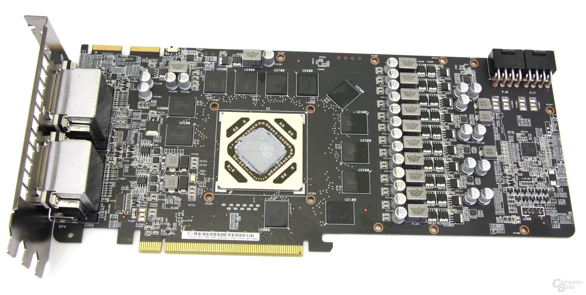 Radeon HD 7970 DCII ohne Kühler