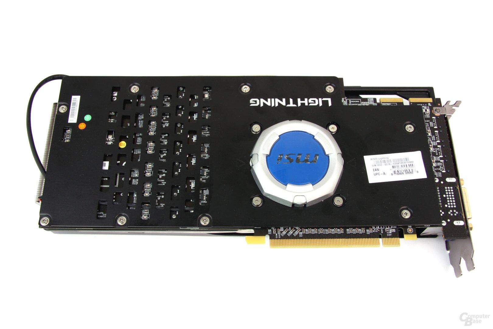 Radeon HD 7970 Lightning Rückseite