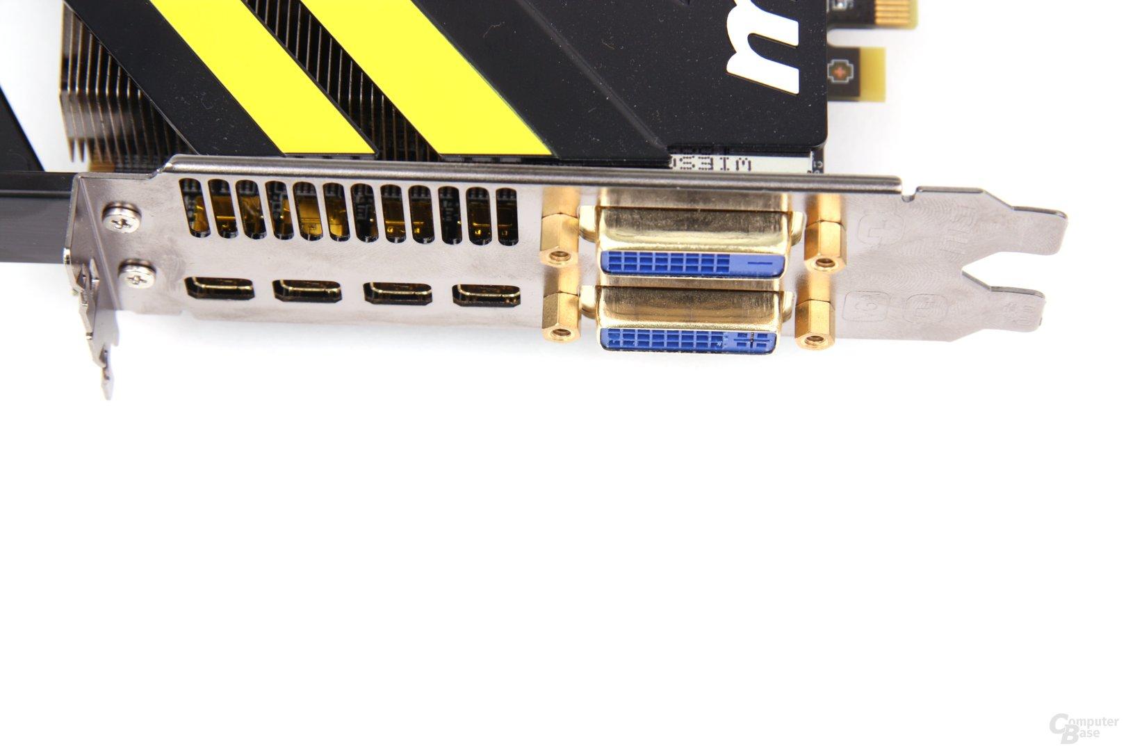 Radeon HD 7970 Lightning Anschlüsse