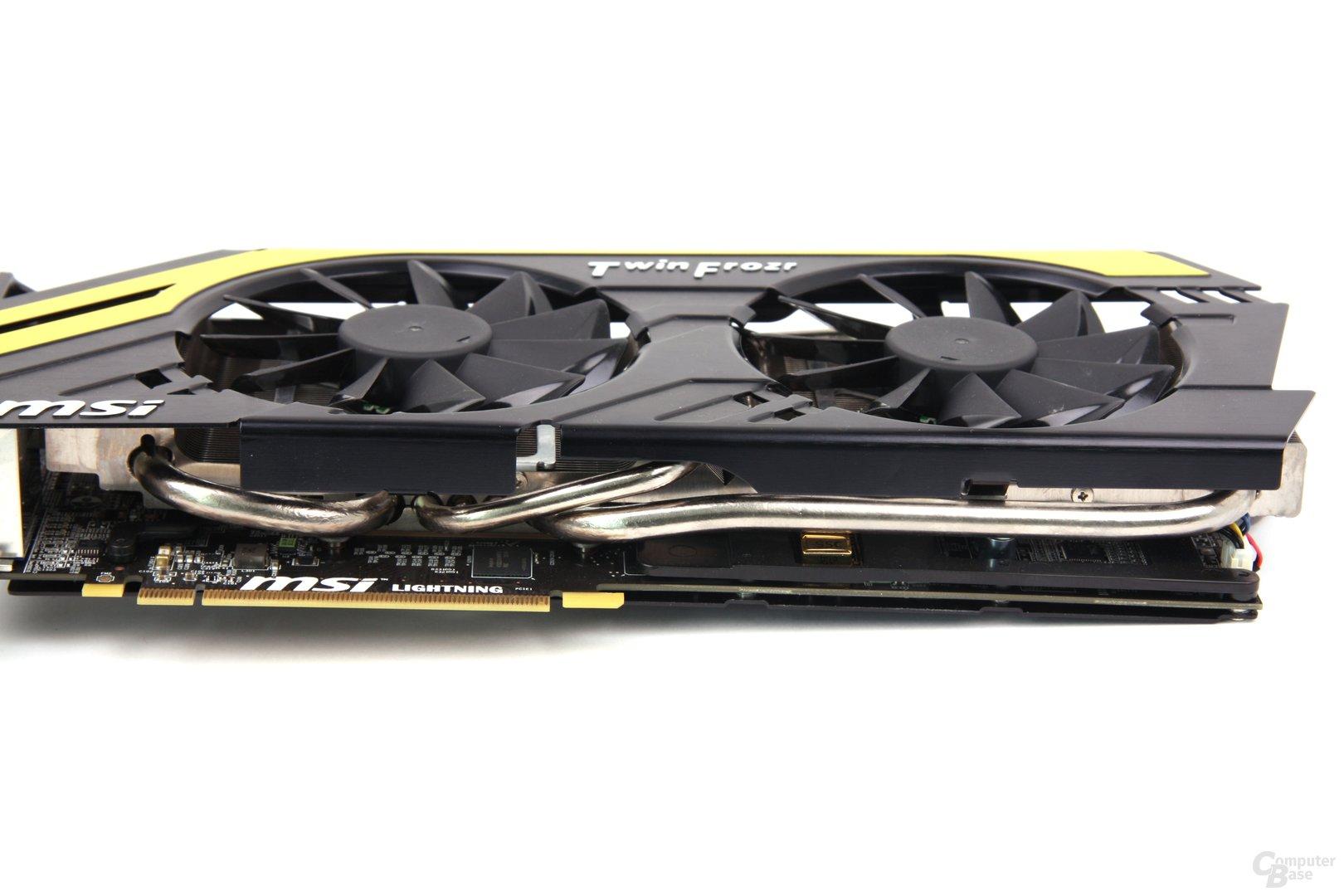 Radeon HD 7970 Lightning Heatpipes