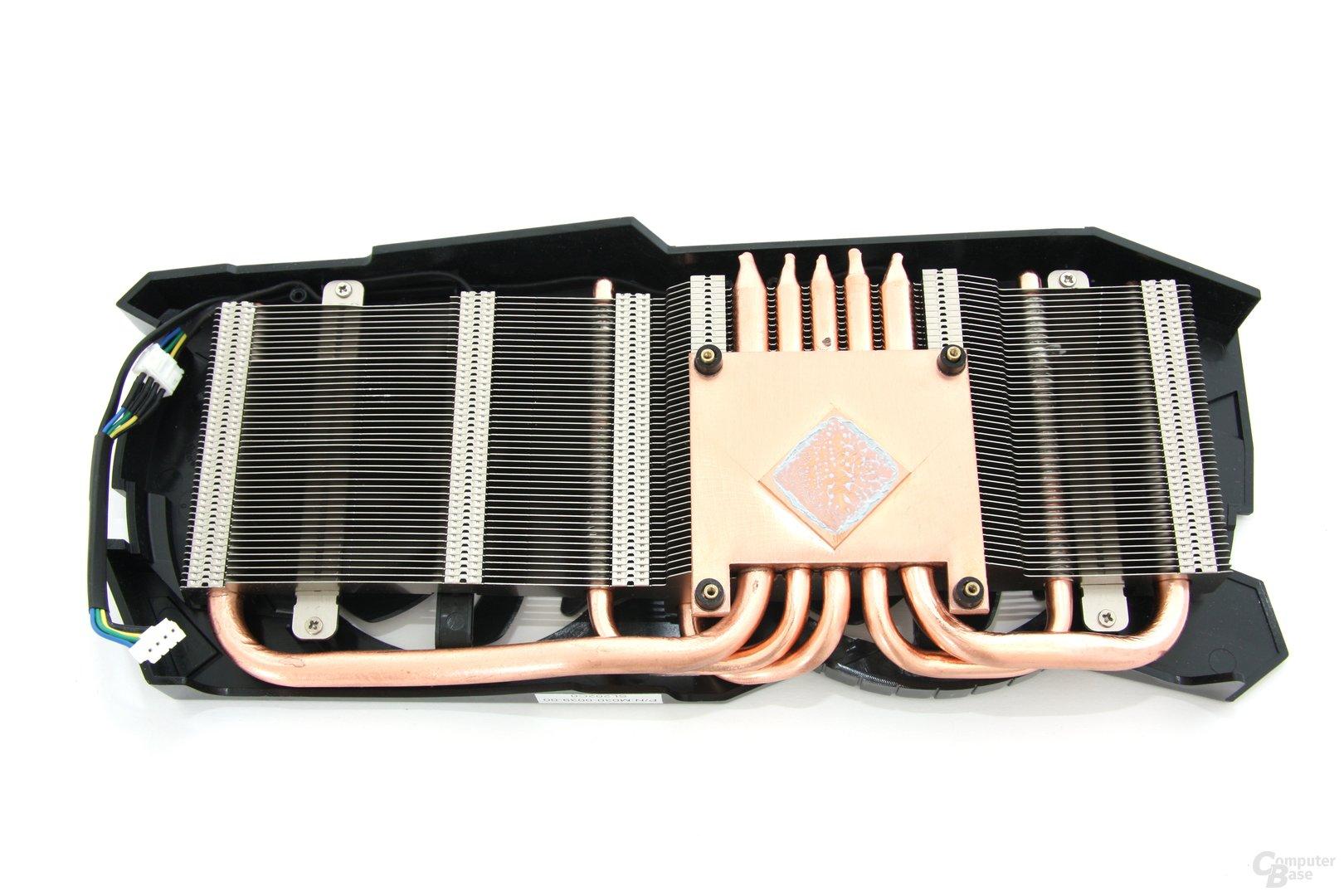 Radeon HD 7950 OC Kühlerrückseite
