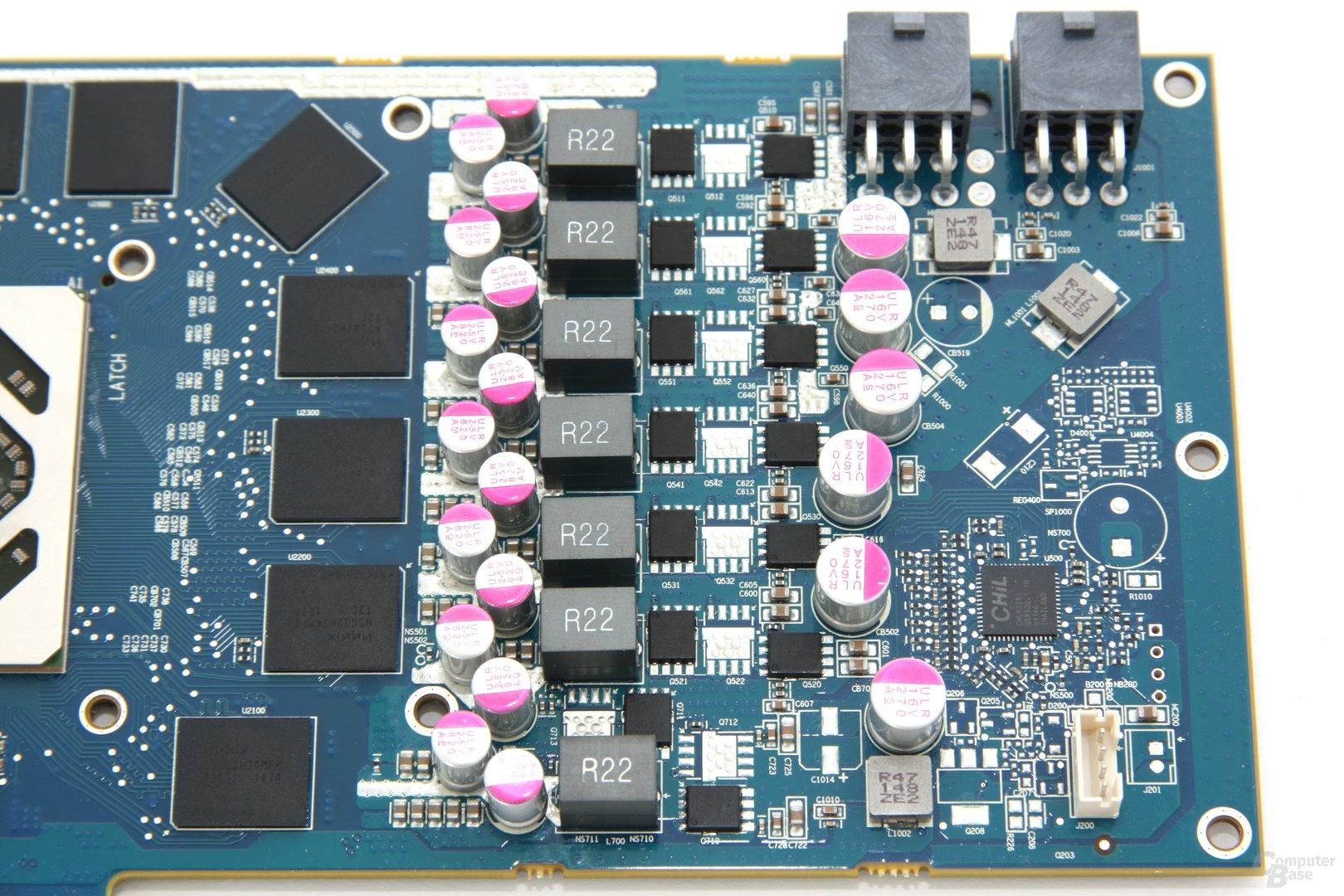 Radeon HD 7950 OC Stromversorgung