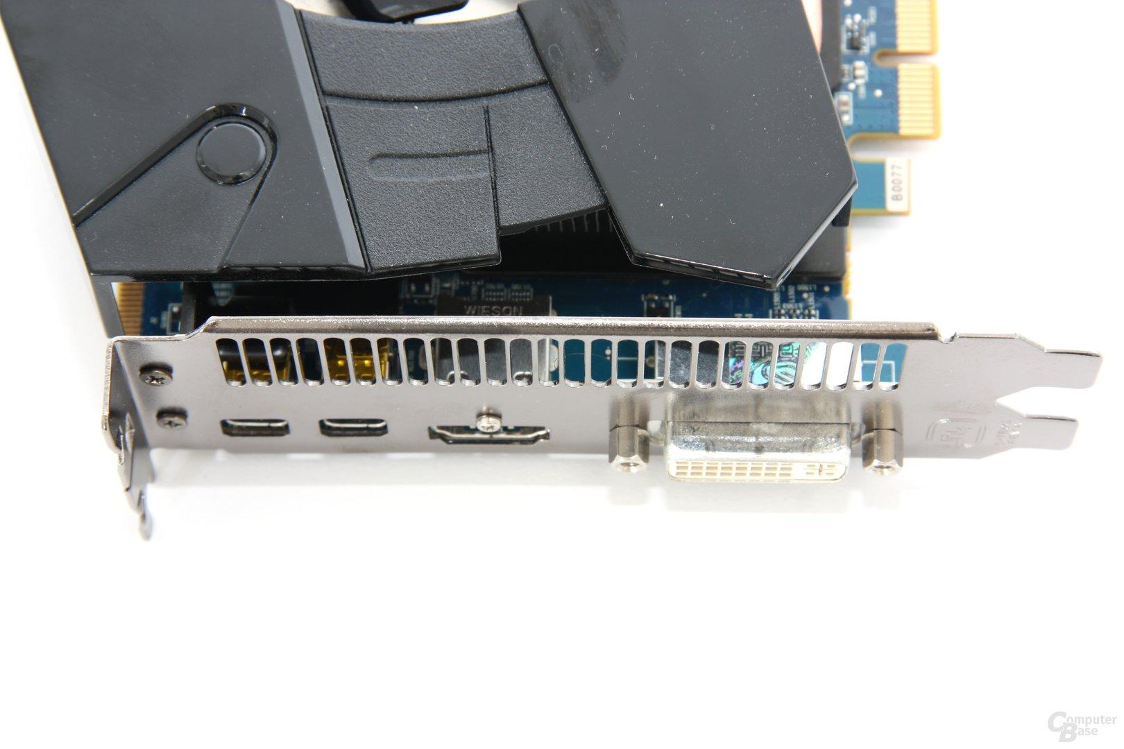 Radeon HD 7950 OC Anschlüsse