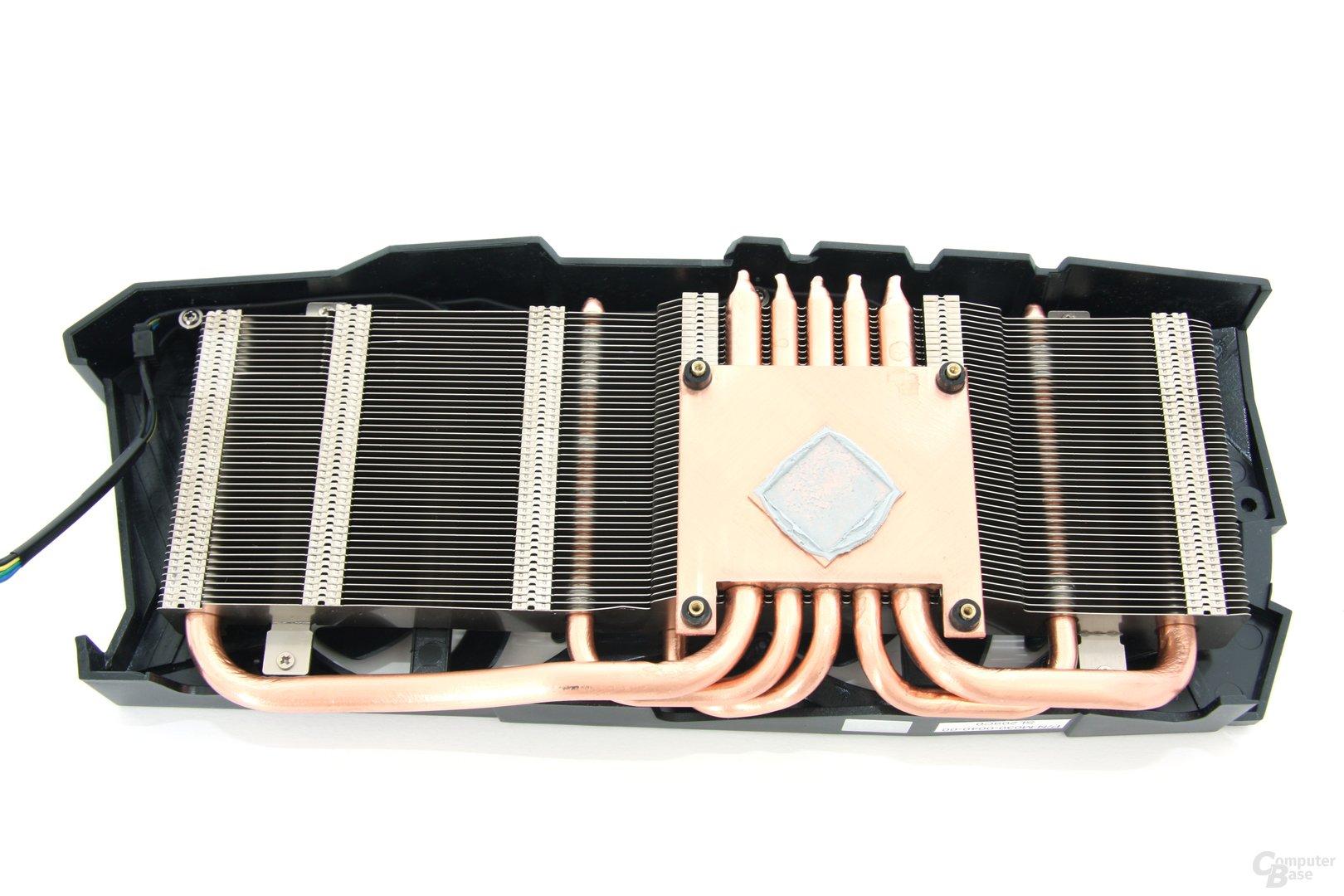 Radeon HD 7970 OC Kühlerrückseite