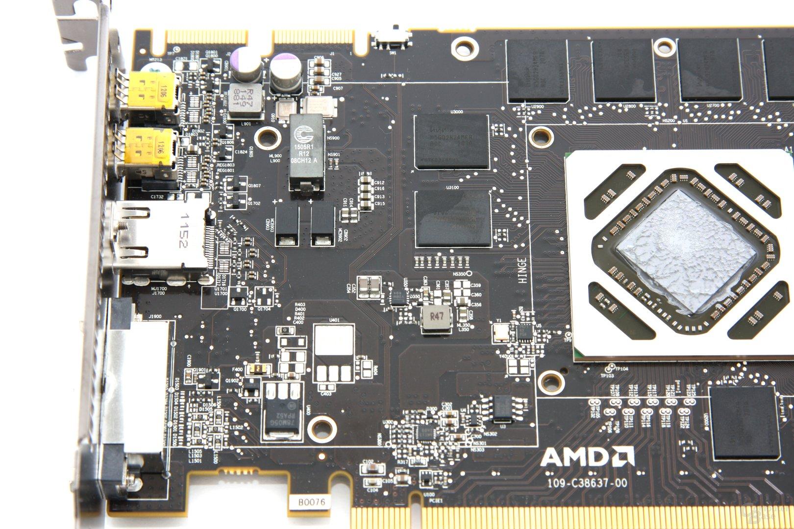 Radeon HD 7970 OC Bauteile