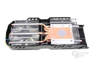 Radeon HD 7950 DCII Kühlerrückseite