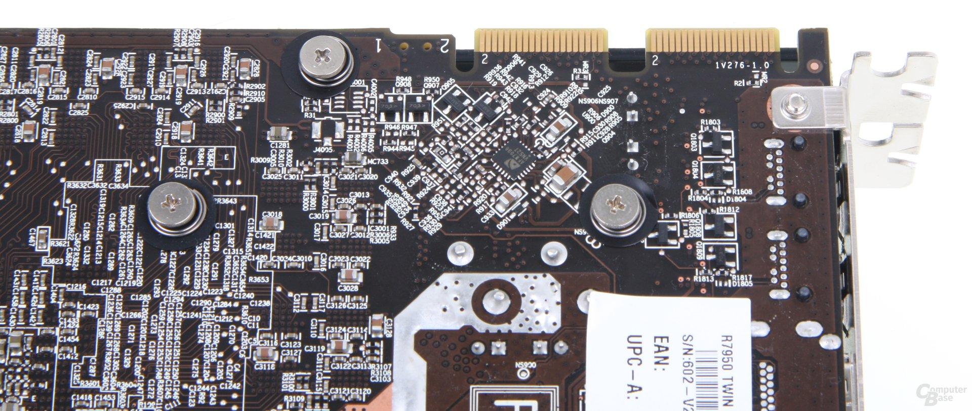 Radeon HD 7950 TFIII CF-Anschlüsse