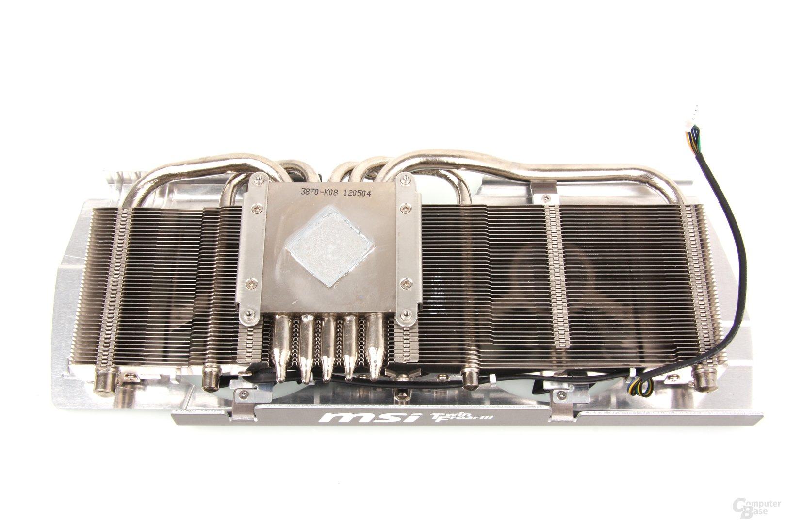 Radeon HD 7950 TFIII Kühlerrückseite