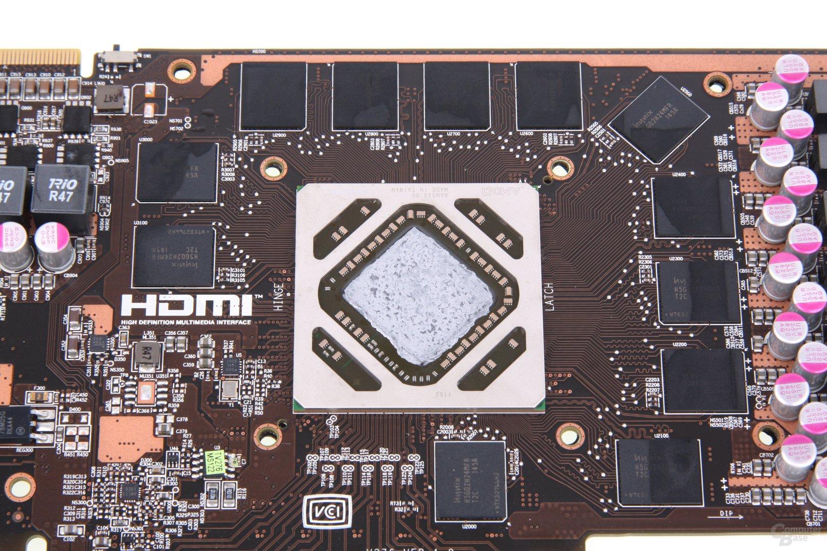 Radeon HD 7950 TFIII GPU und Speicher