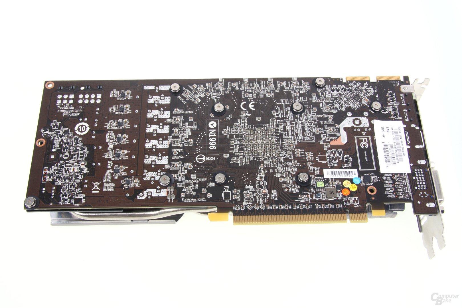 Radeon HD 7950 TFIII Rückseite