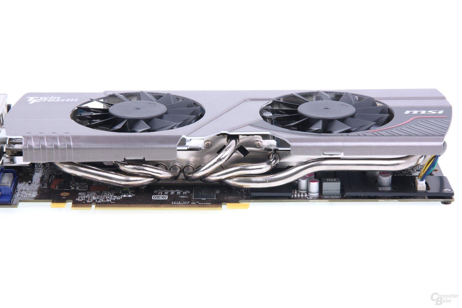 Radeon HD 7950 TFIII Heatpipes