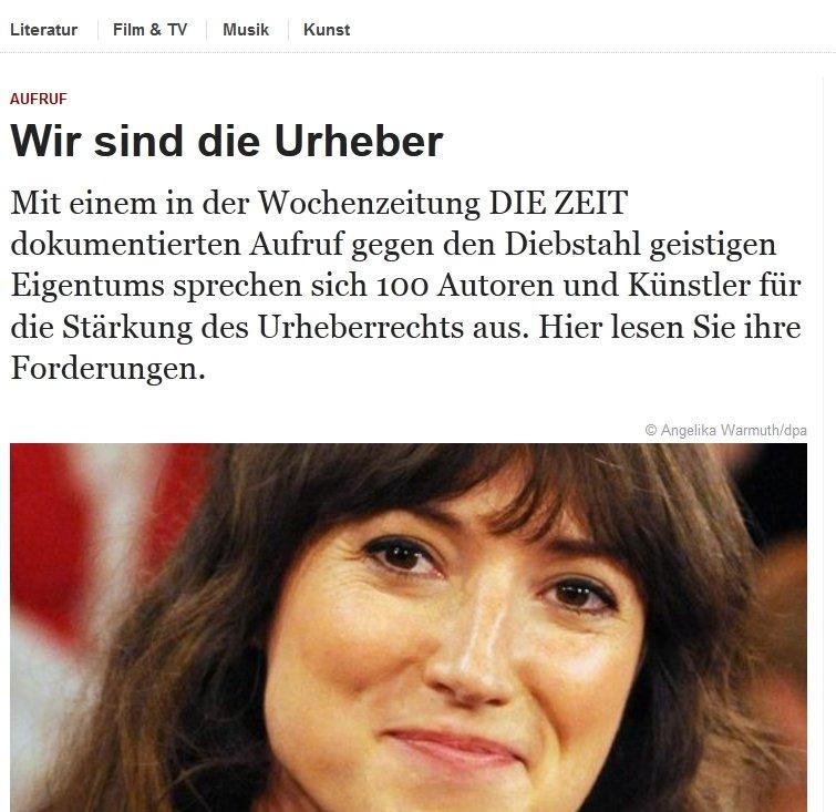 """Zeit Online lanciert """"Wir sind Urheber""""-Aktion"""