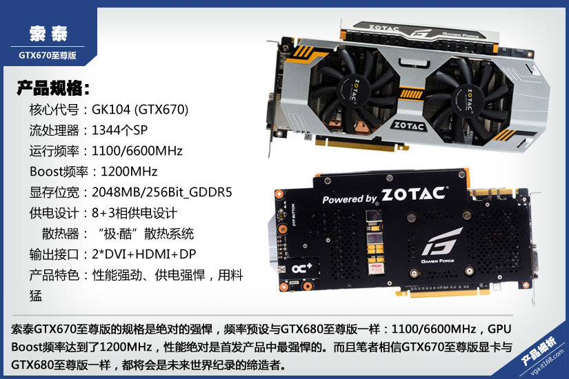 Zotac GeForce GTX 670 Extreme Edition