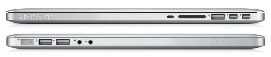 Anschlüsse des neuen 15 Zoll MacBook Pro