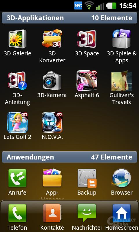 Screenshot des Optimus 3D Max