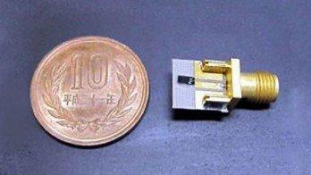 Größenvergleich: Gerät - 10 Yen Münze
