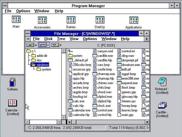 Windows 3 / 3.1